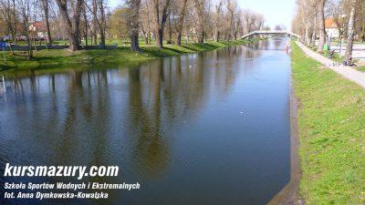 poziom wody na Mazurach - Kanał Giżycki