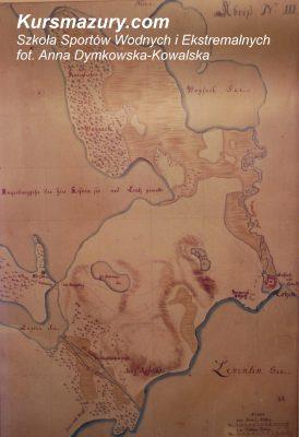 wielkie jeziora mazurskie kursmazury mapa Niegocin historia jezior 1843 Kisajno rejsy szkoleniowe rekreacyjne żeglarskie Giżycko