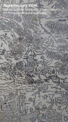 wielkie jeziora mazurskie kursmazury mapa Niegocin historia jezior 1843 Kisajno rejsy szkoleniowe rekreacyjne żeglarskie Giżycko mapa prus 1595