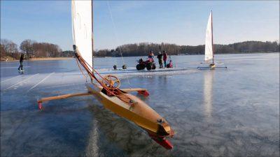 Zakończenie sezonu lodowego jezioro Kisajno – 2019.02.16. niebezpieczny lód kurs mazury