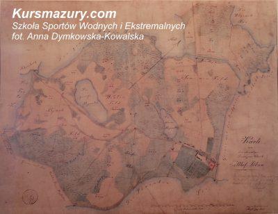 Giżycko wielkie jeziora mazurskie kursmazury mapa Niegocin historia jezior 1843 Kisajno rejsy szkoleniowe rekreacyjne żeglarskie