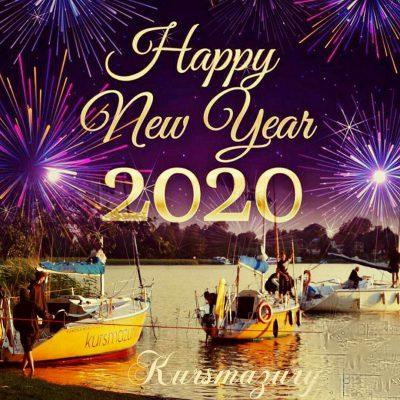 kursmazury.com życzenia nowy rok 2020 wypływamy w nowy rok mazury jachty na wodzie rejsy szkolenia obozy mazury wakacje lato obóz rejs żeglarstwo