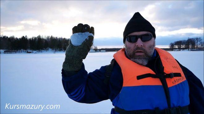 2021.02.13. – warunki lodowe jezioro Kisajno Mazury