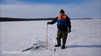 2021.02.16. – warunki lodowe jezioro Kisajno Mazury