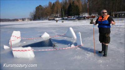 2021.02.22. – warunki lodowe jezioro Kisajno, Mazury